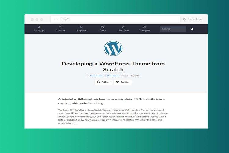 WordPress Theme from Scratch